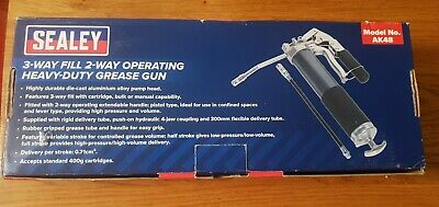 Sealey 3 Way Fill 2 Way Operating Heavy Duty Grease Gun