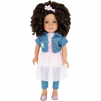 Chad Valley Designafriend Layla Doll 18inch/45cm gift boxed with charm bracelet.
