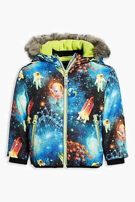 Bnwt Next Multi Space Print Bomber Jacket, Size 4-5 Years