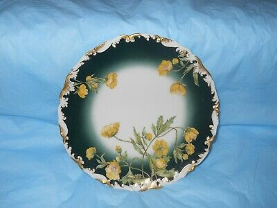 SUPERB Limoges Plate with amazing Buttercups
