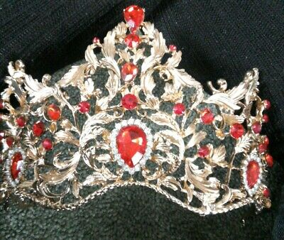 Crown For Irish Dance Red Gold