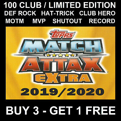 Match Attax Extra Champions League 2019/20 Limited Edition 100 Club Hero Mvp