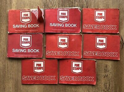 8x Vintage Sperry & Hutchinson Pink Stamps Saver Books Bundle