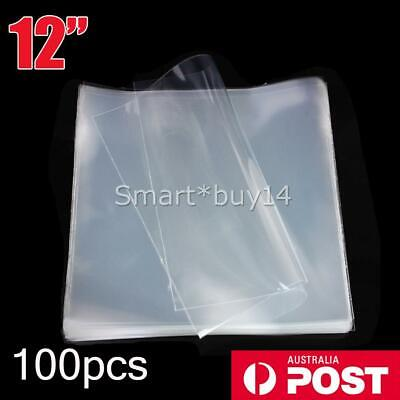 """100 x NEW LP 12"""" CLEAR CLARITY OUTER COVER SLEEVES FOR VINYL RECORDS THICK 80um"""