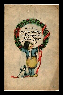 Dr Jim Stamps Us Prosperous New Year Topical Greetings Postcard