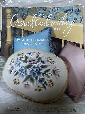 Vintage Elsa Williams Crewel Embroidery Pillow Cover Kit #KC272 ~ New Old Stock