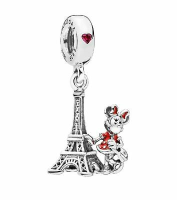 Authentic Pandora Bead Disney Park Exclusive Minnie Mouse Paris Eiffel Tower