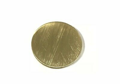 "1/4"" Brass 260 Plate Round Circle Disc 2"" Diameter (.25"")"