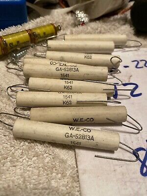 NOS Pair Western Electric Resistors 1.5k Wire Wound 10 Watt Ga-52813a Ohm 1%