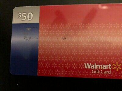 $50 Walmart Gift Card ---New ---Unscratched--- No Expiration