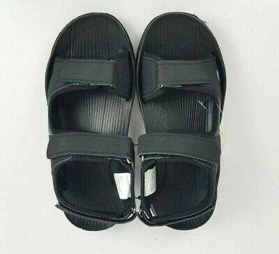 "AND1 Men Size /""7/""  Premium Black//White Adjustable Heavy Cushen Sandals"