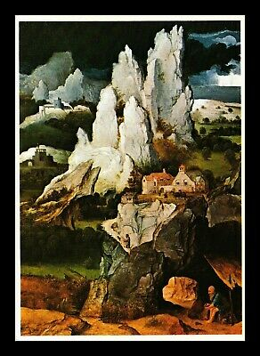 Dr Jim Stamps St Jerome In The Cave Painting Topical Continental Size Postcard