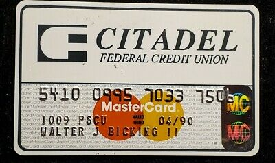 CITADEL Federal Credit Union MasterCard credit card exp 1990♡Free Shipping♡cc881
