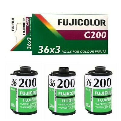 3 Rolls Pack - FUJI Fujifilm FujiColor C200 ISO 200 35mm 36exp Color Print Film