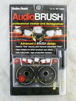 Vtg Radio Shack Audio Brush Audio Cassette Tape Deck Cleaner Demagnetizer