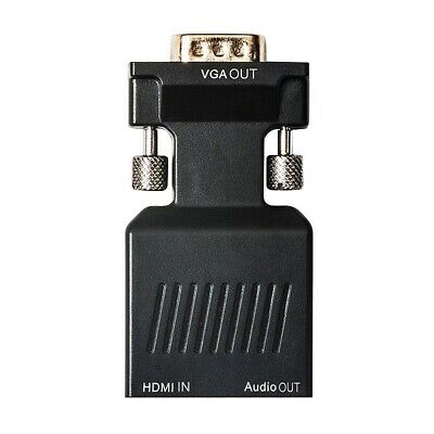 HDMI Female to VGA Male Converter with Audio Adapter SUpport 1080P Signal O Q9L4