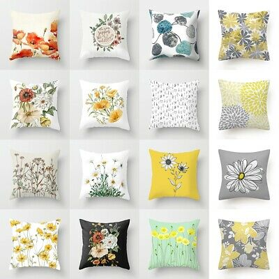 45x45CM Flower Polyester Pillow Case Waist Sofa Cushion Cover Home Decor Gift