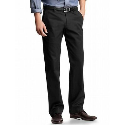 NWT GAP Mens Tailored Khaki Pants in Relaxed Fit Black or Gray 30x34 30W 34L #1f