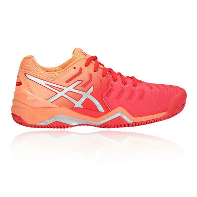 Asics Mujer Gel-Resolution 7 Tenis Zapatos Rosa Deporte Transpirable Ligero
