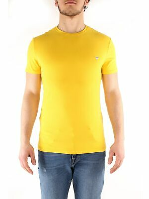 GUESS JEANS T SHIRT Giallo Sngl Uomo Man M81I13I3Z00 T Shirt