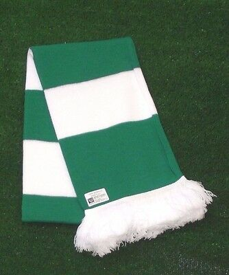 Celtic Traditional Colours Retro Bar Scarf - Green & White