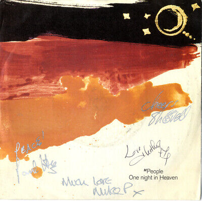 """M People - Manchester House Band - In Person Signed 7"""" Record Cover."""