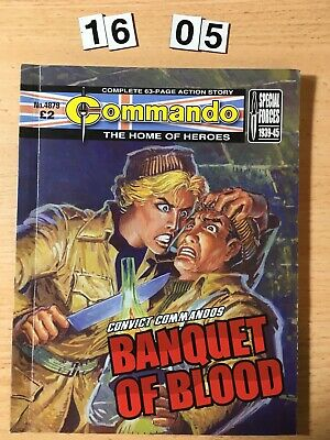 """Commando Comic # 4879  from 2016 """"Banquet of Blood"""" VG Cond."""