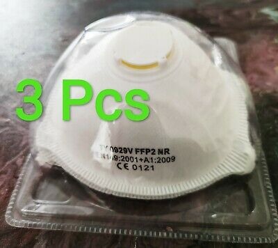 3 X FFP2 N95 Safety Dust flu Mask Respirator Valve Virus Protection surgical