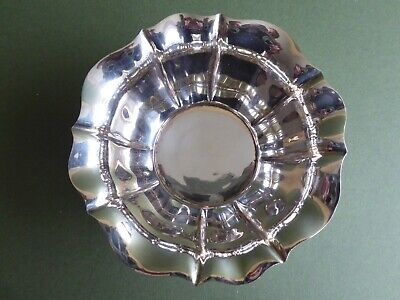 SUPERB ANTIQUE 20thC Tudor Rose/Arts&Crafts SILVER PLATED DISH-Henry Atkin c1910