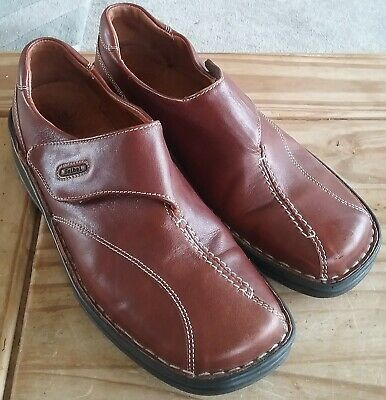 Ladies Leather Slip On Shoes by Josef Seibel Brown  Size EU 38 good condition