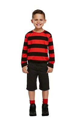 Children's Boys Dennis the Menace Top Wig Fancy Dress costume Book Week outfit