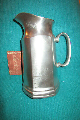 Wilton Armetale Columbia Mulberry Hill Pewter 6-sided Water Pitcher