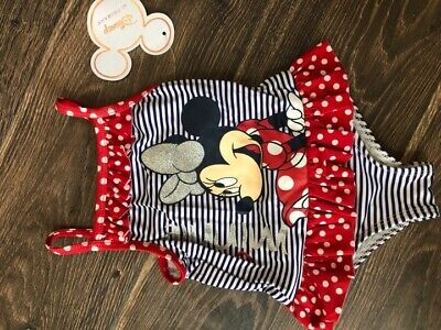 PRIMARK DISNEY baby MINNIE MOUSE SWIMSUIT SWIMWEAR BNWT ALL AGES HOLIDAY