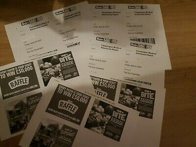 X 6 Chessington World Of Adventures Tickets Friday 24th April 2020 .