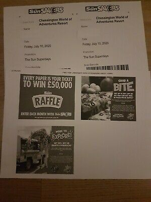 2 Chessington World Of Adventures Tickets Friday July 10th 2020 .