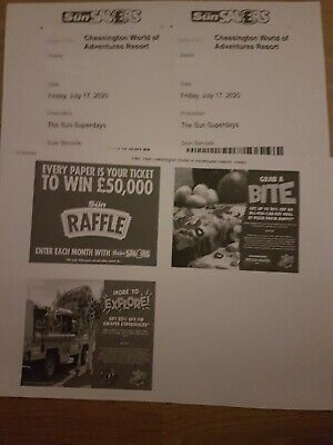 2 Chessington World Of Adventures Tickets Friday July 17th 2020