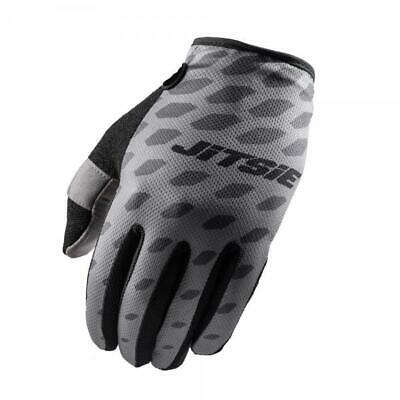 Jitsie G2 Danjon Trials Bike Riding Gloves. Grey/Black. Off-Road