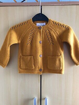 6-9 Months Girls Mustard Cardigan