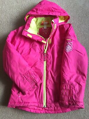 Girls Pink And Yellow Wedze Decathlon Ski Jacket Age 6 (115-124cm)