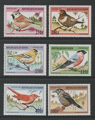 Thematic Stamps Animals - BENIN 1997 BIRDS 6v 1652/7 mint