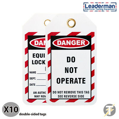 Leaderman Pack of 10 Lockout/off Danger Safety Tags Do Not Operate  LDMTAG3-10
