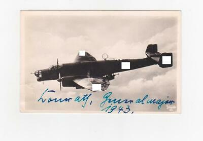 Wartime Signed Postcard Knight's Cross/Oakleaves Paratroops General Conrath RARE