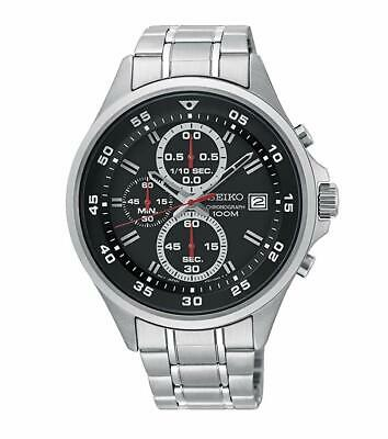 Seiko SKS627 Chronograph Black Dial Stainless Steel Quartz Men's Watch SKS627P1