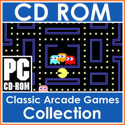 Classic Retro Arcade Games Collection PacMan, Space Invaders & More On CD-Rom