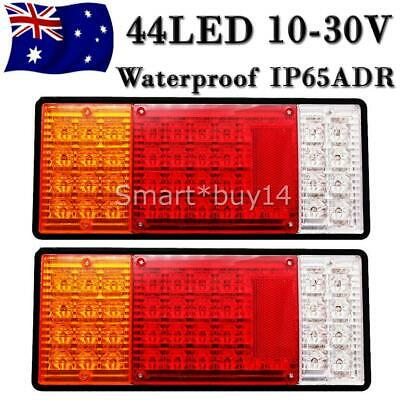 2PCS 10-30V Tail Lights Ute Trailer Caravan Truck Stop Indicator rear LAMP 44LED
