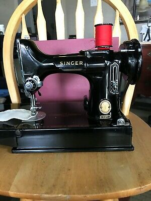 Singer Featherweight 221 Sewing Machine 1957 Attachments Very Clean
