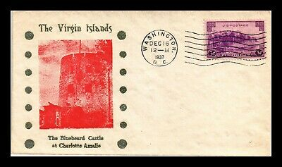 Dr Jim Stamps Us Bluebeard Castle Virgin Islands Cachet Scott 801 On Cover