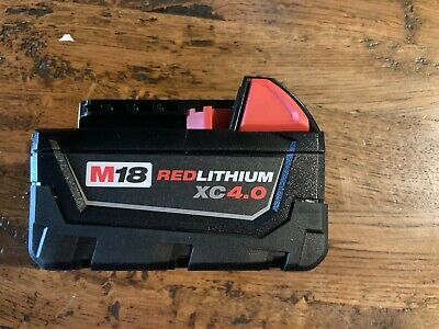 NEW Genuine Milwaukee 48-11-1840 M18  4.0ah Red Lithium XC Battery Pack