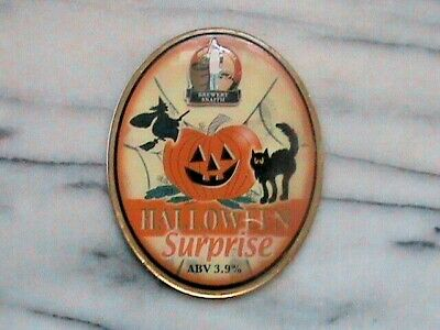 Old Mill Halloween Surprise real ale beer pump clip sign Plastic Resin Coated