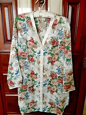 NWOT Victoria's Secret Gold Label Sheer Floral Nightshirt Sz M/L